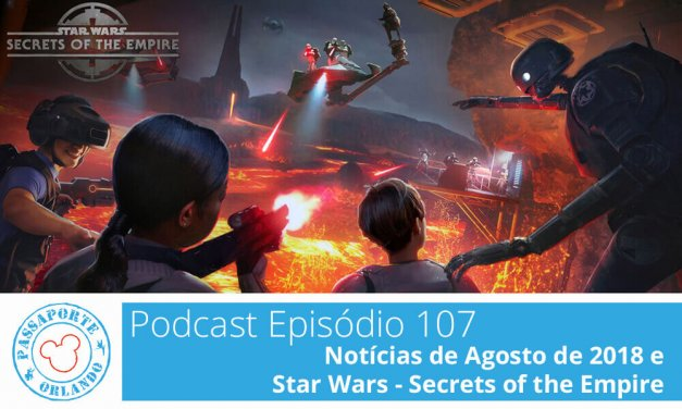 PODCAST EP. 107 – Notícias de Agosto de 2018 e Star Wars Secrets of the Empire